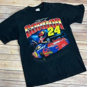 Jeff Gordon Vintage Nascar Racing Black T-shirt